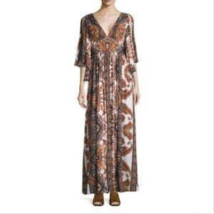 Free People Maxi Dress Fern Print Sz 2